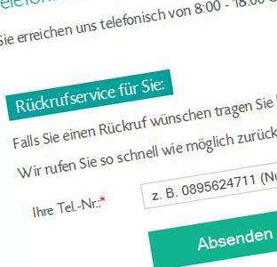 Telefonnummer Rück